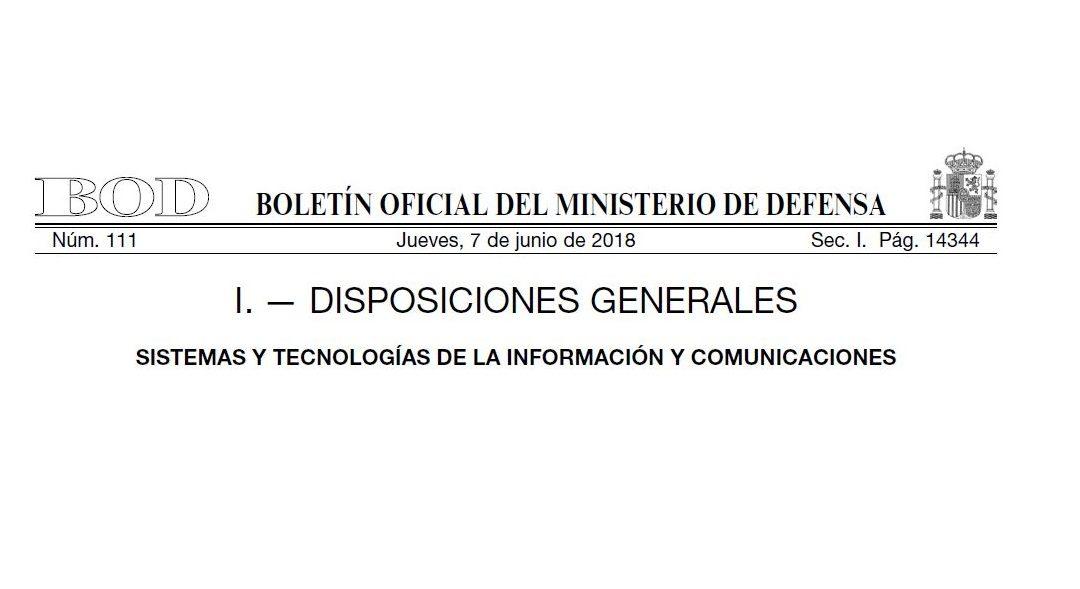 EL MINISDEF PUBLICA EL PLAN ESTRATÉGICO DE LOS SISTEMAS CIS/TIC