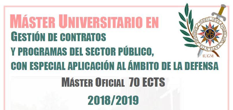 Máster Oficial en Gestión de Contratos y Programas del Sector Público