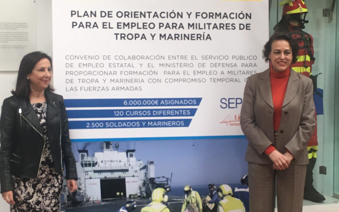 FIRMAN UN CONVENIO PARA LA FORMACIÓN DE MILITARES DE TROPA Y MARINERÍA