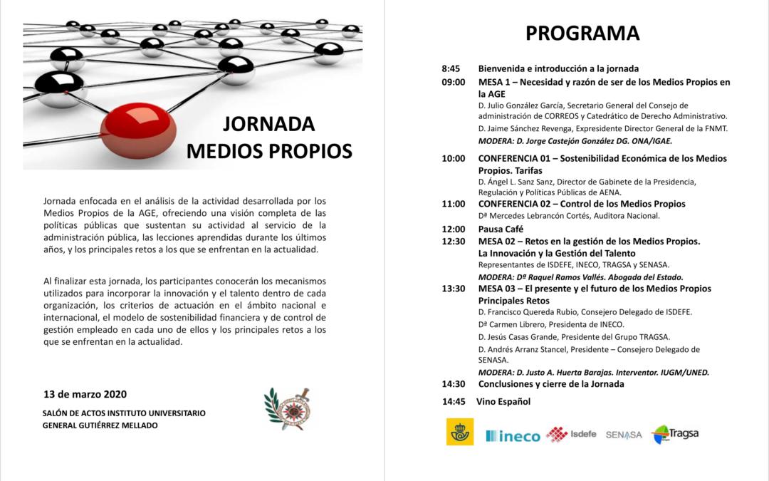 Pospuesta la Jornada «Medios Propios» en el Instituto Gutiérrez Mellado