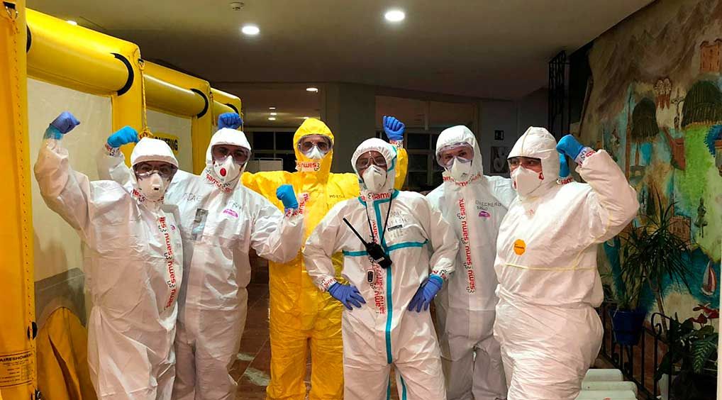 Equipos de SAMU trabajan en primera línea contra el coronavirus