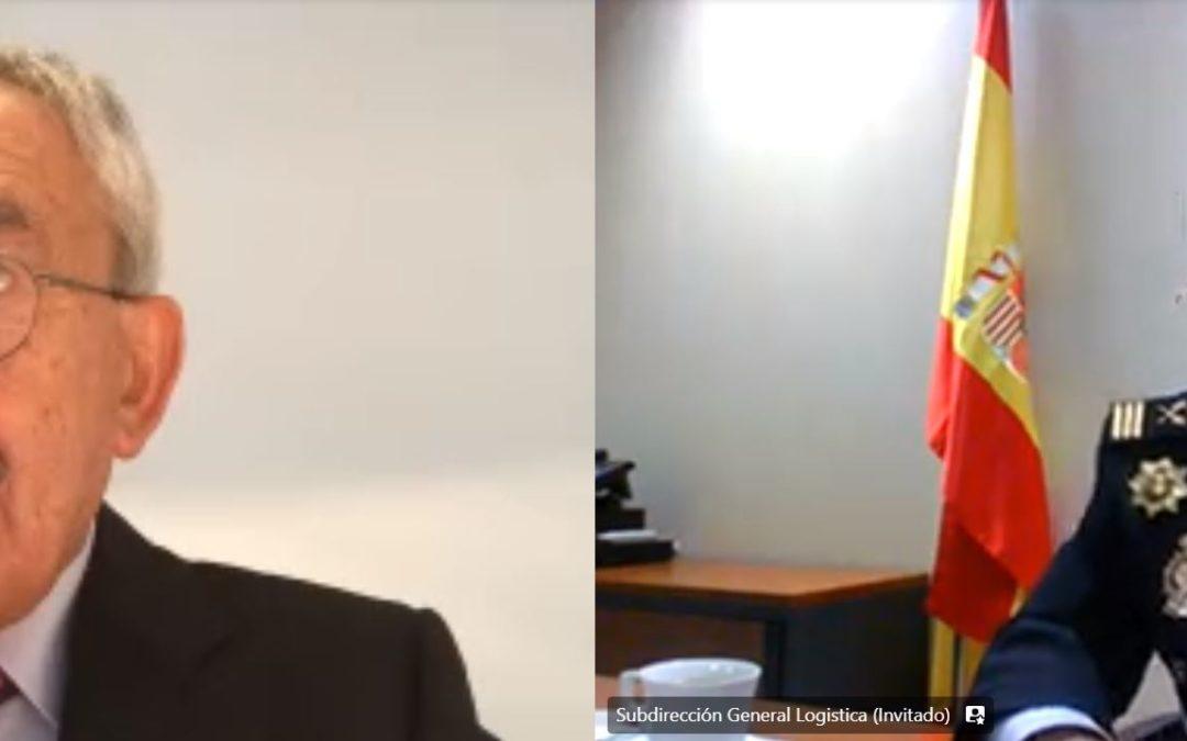 Webinario con la Policía Nacional, Comisario José García Molina