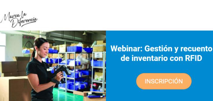 Tecnipesa celebrará una webinar el 8 de octubre sobre la gestión y recuento de inventario con RFID