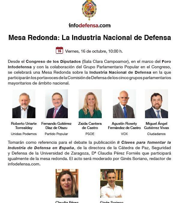 Debate político sobre la Industria Nacional de Defensa organizado por Infodefensa