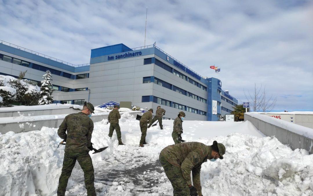 El Ejército de Tierra hace frente a la borrasca de nieve Filomena