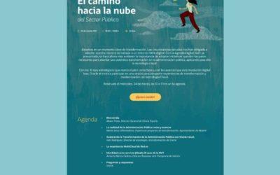 Oracle realizará el próximo 24 de marzo una webinar sobre  «El Camino hacia la nube del Sector Público»