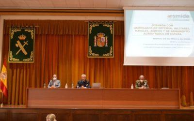 AESMIDE celebró la Jornada con Agregados de Defensa, Militares, Navales, Aéreos y de Armamento acreditados en España
