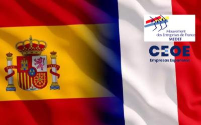 CEOE y Medef firman una declaración conjunta para reforzar la cooperación bilateral ante la pandemia