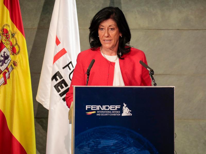 La secretaria de Estado de Defensa clausura el acto de presentación de la Feria Internacional de Defensa y Seguridad – FEINDEF 21