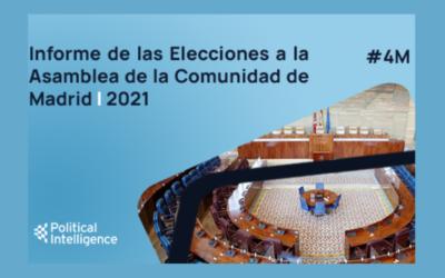 La agencia Political Intelligence ha elaborado un informe sobre las Elecciones a la Asamblea de la Comunidad de Madrid 2021