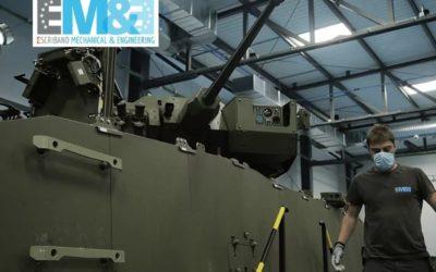 Escribano Mechanical and Engineering presenta el montaje de la torre con cañón de 30mm que usará el Ejército de Tierra