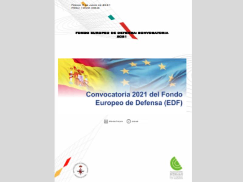 """La Fundación Círculo de Tecnologías para la Defensa y la Seguridad celebrará una webinar sobre """"Fondo Europeo de Defensa (EDF)»"""