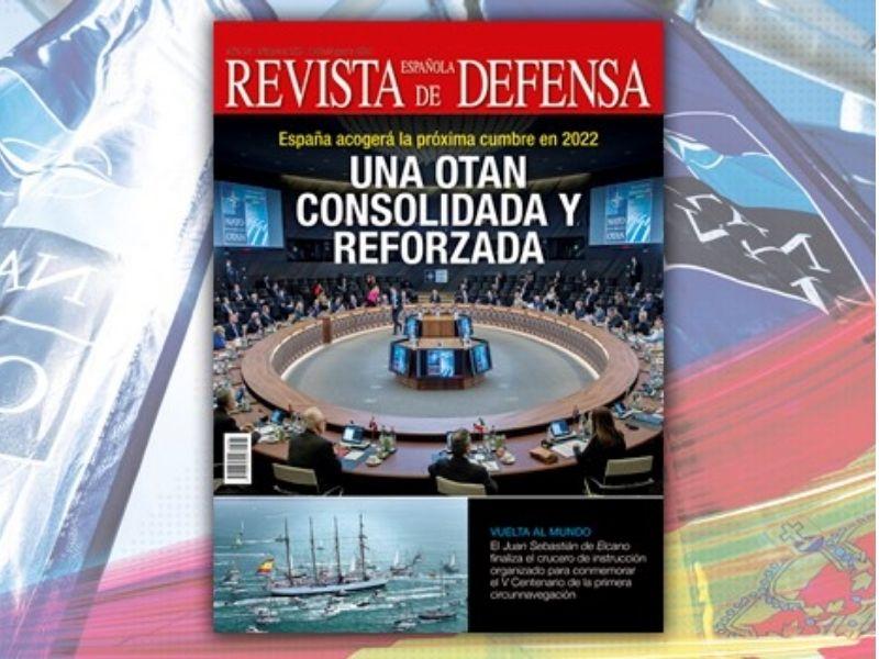 El número de julio/agosto de la Revista Española de Defensa dedica su portada a la Cumbre de la OTAN
