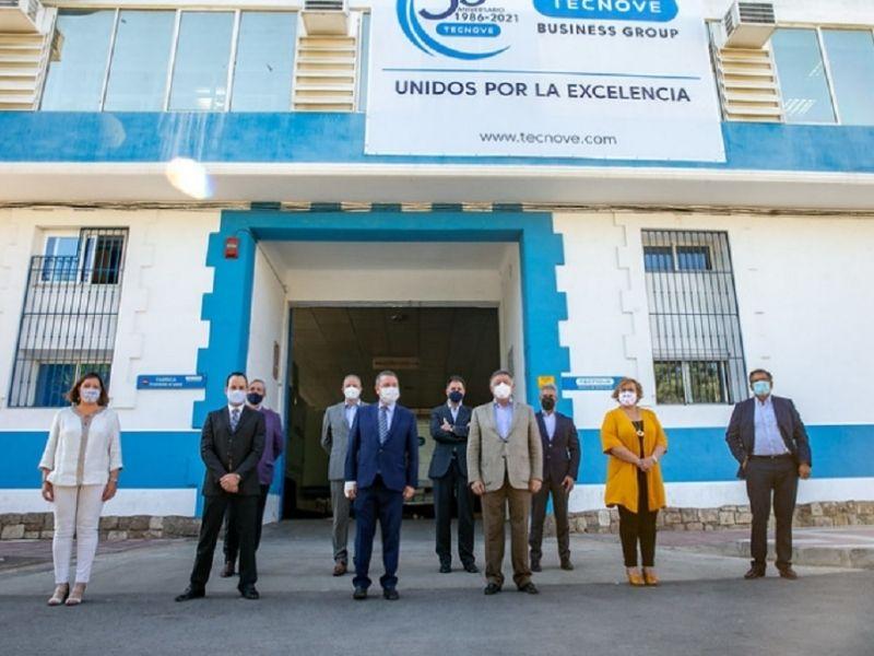 El Grupo Tecnove recibe la visita del presidente de Castilla-La Mancha, Emiliano García-Page
