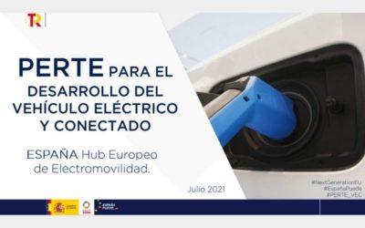 Aprobación del proyecto estratégico para la recuperación y transformación económica del vehículo eléctrico y conectado