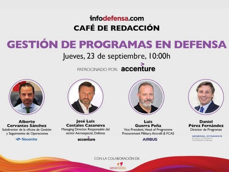 El primer Café de Redacción de Infodefensa se centrará en la Gestión de Programas en Defensa y se celebrará mañana 23 de septiembre