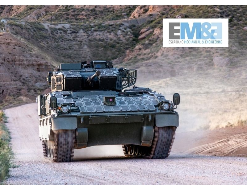 Escribano Mechanical & Engineering presenta las nuevas cámaras de conducción del vehículo blindado Pizarro del Ejército de Tierra