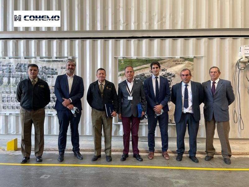 El Director Técnico de Aesmide y el Director de Adquisiciones del MALE visitan las instalaciones de la empresa asociada COHEMO